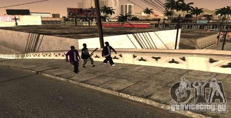 HQ SkinPack Ballas для GTA San Andreas второй скриншот