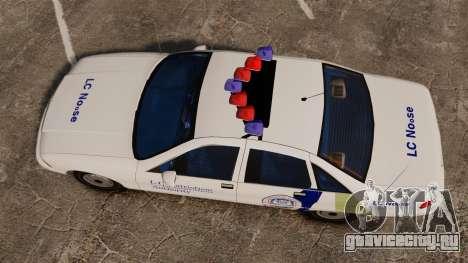Chevrolet Caprice Police 1991 v2.0 N.o.o.s.e для GTA 4 вид справа