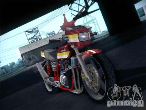 Kawasaki Z-400FX Street Drag T2 для GTA San Andreas вид сзади слева