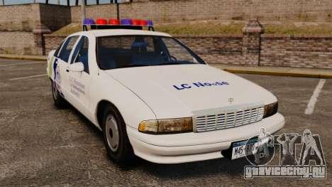 Chevrolet Caprice Police 1991 v2.0 N.o.o.s.e для GTA 4