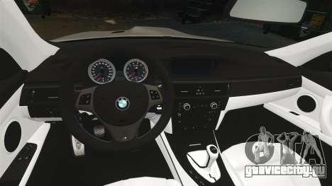 BMW M3 E92 2008 для GTA 4 вид сзади