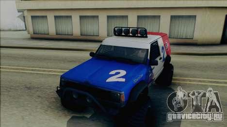 Jeep Cherokee 1984 Sandking для GTA San Andreas вид сбоку
