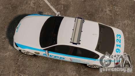 BMW 350i NYPD [ELS] для GTA 4 вид справа