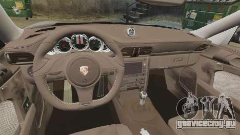 Porsche 911 Sport Classic 2010 для GTA 4 вид сзади