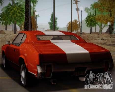 Sabre Turbo для GTA San Andreas вид сзади слева