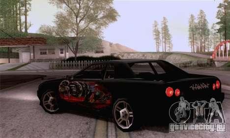 Покрасочная работа для Elegy для GTA San Andreas вид слева
