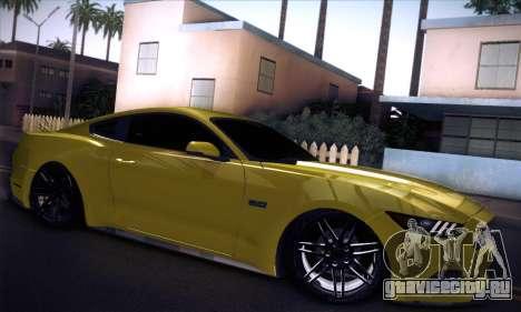 Ford Mustang 2015 Swag для GTA San Andreas вид справа