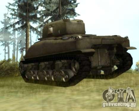 M4 Sherman для GTA San Andreas вид справа