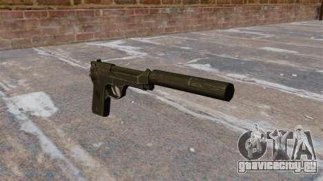 Самозарядный пистолет M9 с глушителем для GTA 4
