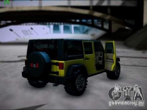 Jeep Wrangler Unlimited 2007 для GTA San Andreas вид справа