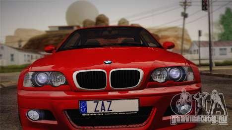 BMW E46 M3 Coupe для GTA San Andreas вид сзади слева