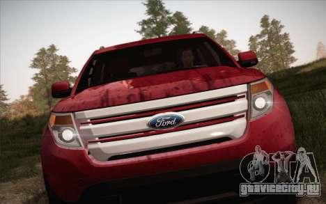 Ford Explorer 2013 для GTA San Andreas вид справа