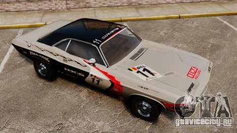 Dodge Challenger 1971 v2 для GTA 4 вид снизу
