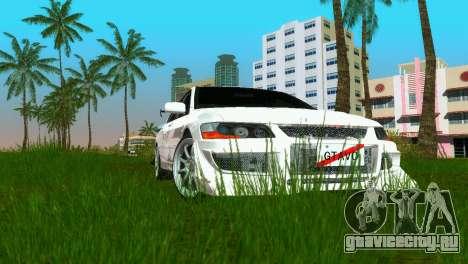 Mitsubishi Lancer Evolution VIII Type 8 для GTA Vice City вид сзади