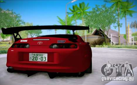 Toyota Supra RZ 1998 Drift для GTA San Andreas вид сзади слева
