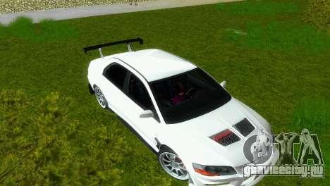 Mitsubishi Lancer Evolution VIII Type 8 для GTA Vice City вид изнутри