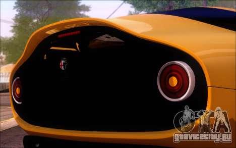 Alfa Romeo TZ3 2011 для GTA San Andreas вид сзади слева