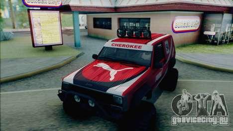 Jeep Cherokee 1984 Sandking для GTA San Andreas вид снизу