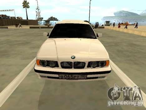 BMW 525 E34 для GTA San Andreas вид сзади