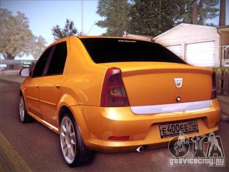 Dacia Logan GrayEdit для GTA San Andreas вид сзади