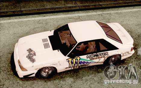 Ford Mustang SVT Cobra 1993 Drift для GTA San Andreas вид изнутри