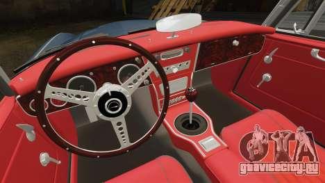Austin-Healey 3000 Mk III 1965 для GTA 4 вид изнутри