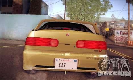 Honda Integra Drift для GTA San Andreas вид сзади