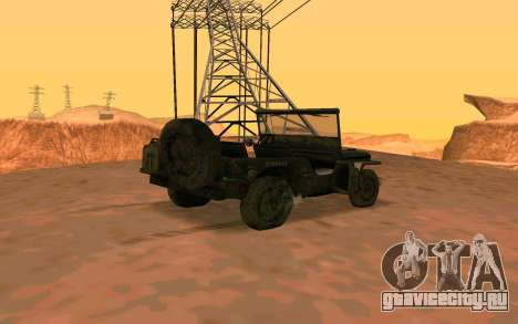 Willys MB v ю2 для GTA San Andreas вид слева