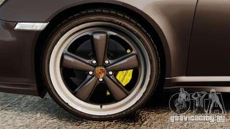 Porsche 911 Sport Classic 2010 для GTA 4 вид изнутри