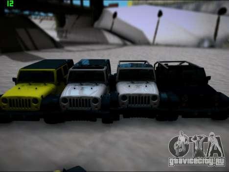 Jeep Wrangler Unlimited 2007 для GTA San Andreas вид сзади слева