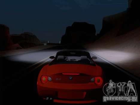 BMW Z4 Edit для GTA San Andreas вид изнутри
