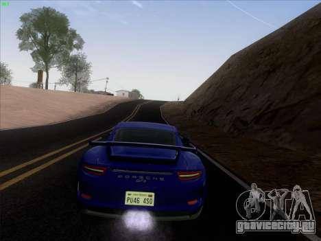 Porsche 911 GT3 2014 для GTA San Andreas вид изнутри