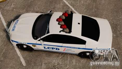 Dodge Charger 2012 LCPD [ELS] для GTA 4 вид справа
