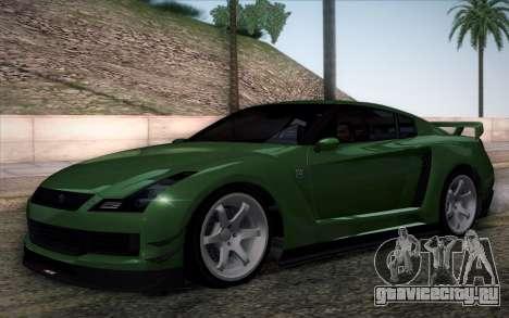 Elegy RH8 from GTA V для GTA San Andreas вид изнутри