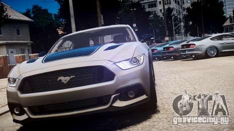 Ford Mustang GT 2015 для GTA 4 вид сбоку