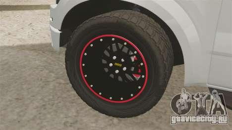 Ford SVT Raptor 2012 для GTA 4 вид сзади