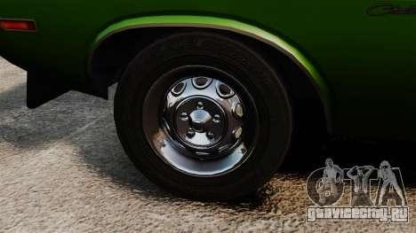 Dodge Challenger 1971 v2 для GTA 4 вид сзади
