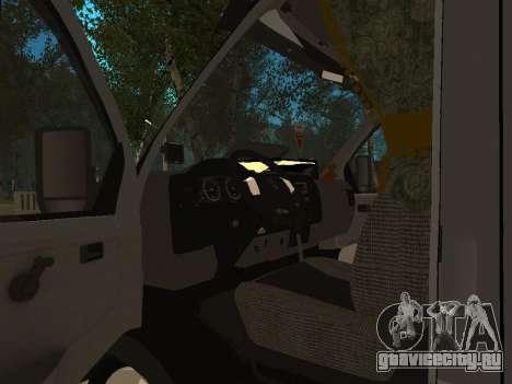 ГАЗель 33023 Бизнеc для GTA San Andreas вид изнутри