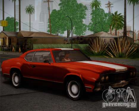 Sabre Turbo для GTA San Andreas вид сзади