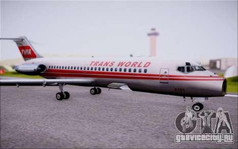 McDonnel Douglas DC-9-10 для GTA San Andreas вид сверху