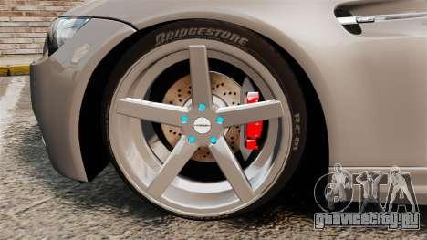 BMW M3 E92 2008 для GTA 4 вид изнутри