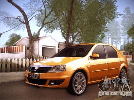 Dacia Logan GrayEdit для GTA San Andreas вид изнутри