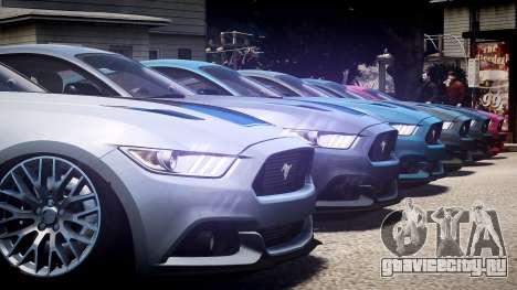 Ford Mustang GT 2015 для GTA 4 вид сверху