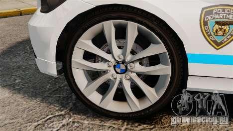 BMW 350i NYPD [ELS] для GTA 4 вид сзади