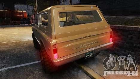 Chevrolet Blazer K5 1972 для GTA 4 двигатель