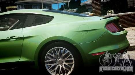Ford Mustang GT 2015 для GTA 4 вид справа