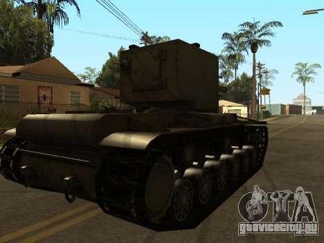 КВ-2 для GTA San Andreas вид сзади слева