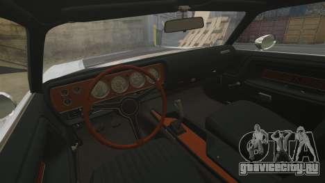 Dodge Challenger 1971 v2 для GTA 4 вид изнутри