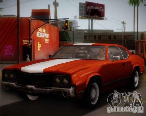 Sabre Turbo для GTA San Andreas вид справа