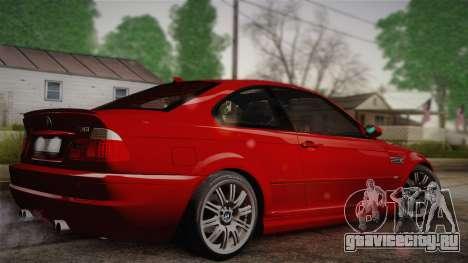 BMW E46 M3 Coupe для GTA San Andreas вид слева